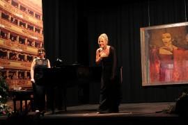Teatro Tullio Serafin (Ve) Mostra Callas  La Divina e il suo Mentore felicia Bongiovanni applausi Foto Corretta