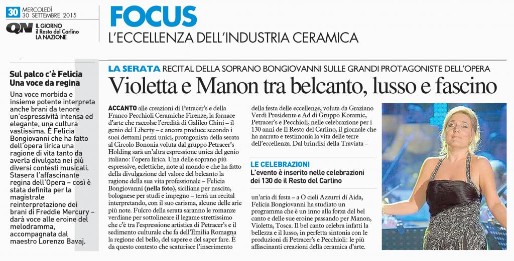 Felicia Bongiovanni - QN Carlino 30 settembre