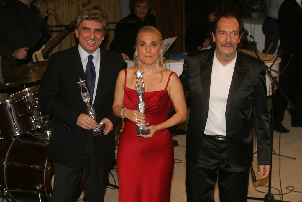 Capri-Hollywood Award Gianluca Pecchini dir gen Nazionale Cantanti Felicia Bongiovanni Andrea Mingardi