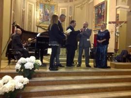 Premio – Riconoscimento UNESCO  per una Cultura di Pace a Francesco Ernani, Sovrintendente del teatro Comunale di Bologna,madrina  e promotrice del Premo Felicia Bongiovanni.