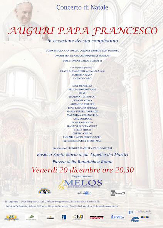 Conosciuto Concerto di Natale 2013 per Papa Francesco – Santa Maria degli  DC72