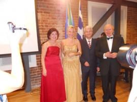 Il Console Fabrizio Marcelli, la direttrice dell'IIC Amelia Carpenito e Bruno Tosi. Concerto d'inaugurazione della mostra dedicata a Maria Callas