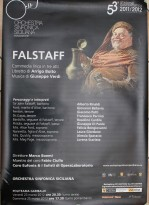 Teatro Politeama Palermo Falstaff di Giuseppe Verdi Locandina