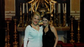 Assisi Suono Sacro Felicia Bongiovanni con l'attrice cino-canadese Lu Ye