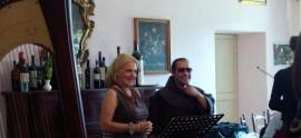 Assisi Suono Sacro Felicia Bongiovanni e Frate Alessandro prove