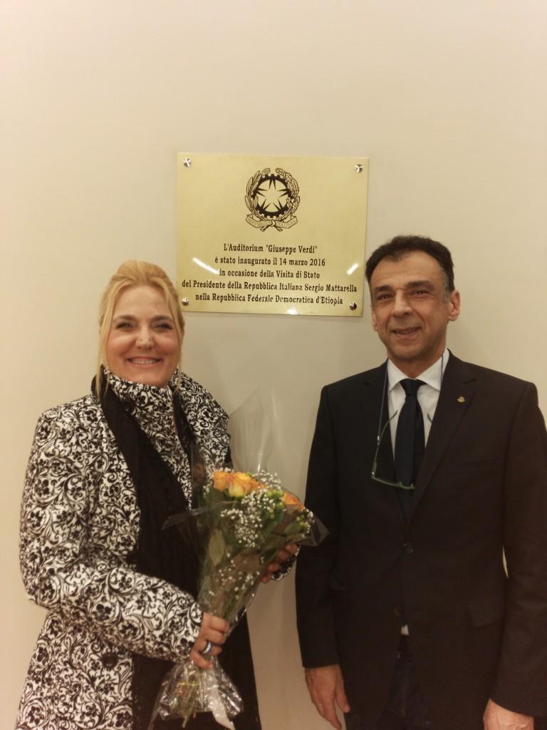 Felicia Bongiovanni e il Maestro Bavaj