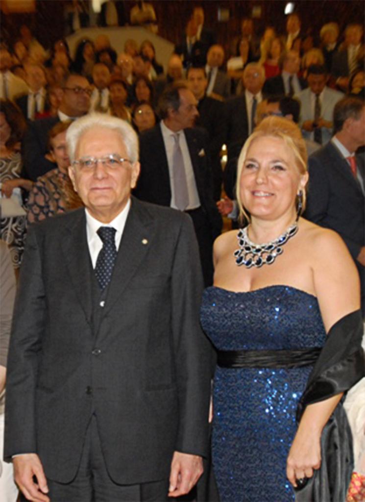 Il Presidente della Repubblica e Felicia Bongiovanni