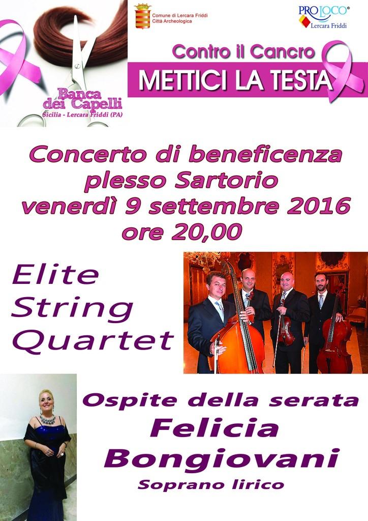 Concerto di beneficenza - Venerdì 9 Settembre 2016 ore 20