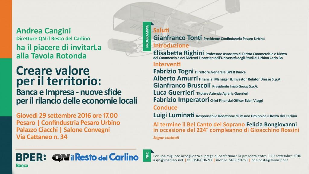 Creare valore per il territorio, il Bel Canto di Felicia Bongiovanni - Convegno Palazzo Ciacchi, Pesaro - Giovedì 29 Settembre ore 17