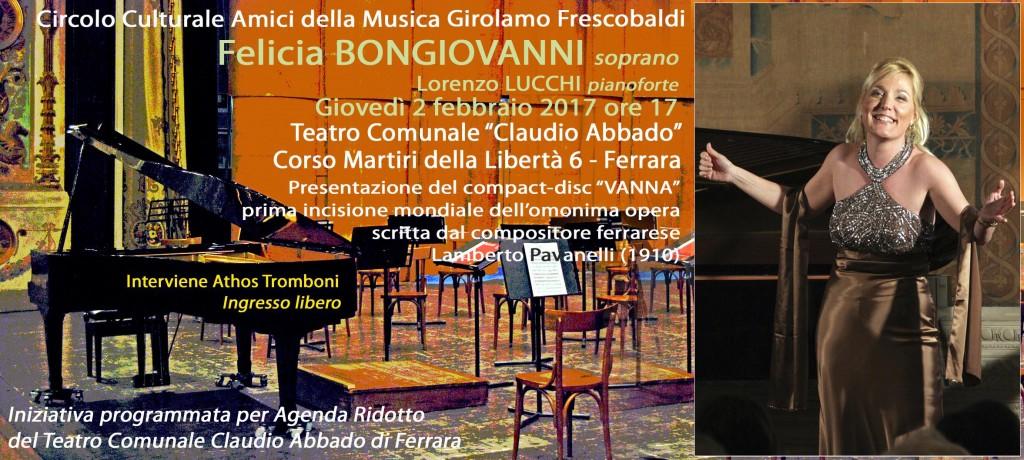 Cartolina Invito Presentazione Vanna Felicia Bongiovanni